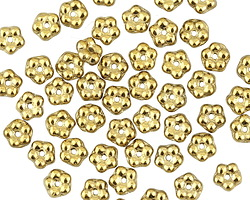 Czech Glass Antique Gold Bali Style Daisy Spacer 2x5mm