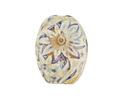 Alpine Pressed Floral Porcelain Oval Focal 38x29mm