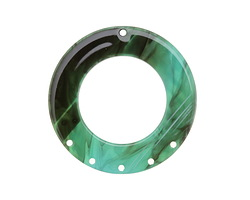 Zola Elements Turquoise Bullhorn Acetate Donut Chandelier 38mm