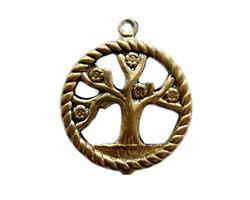 Vintaj Natural Brass Tree of Life Pendant 20x24mm