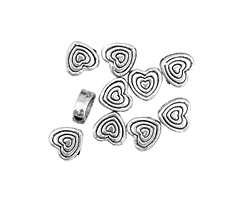 Pewter Nested Heart 6mm