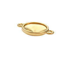 TierraCast Gold (plated) Faceted Link 25x17mm