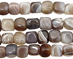 Botswana Agate (rich color) Cube 7mm