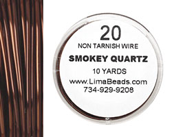 Parawire Smoky Quartz 20 gauge, 10 yards