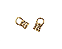 Antique Brass (plated) Crimp Cord End 4mm