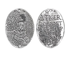 Green Girl Pewter Tiger Focal Link 29x40mm
