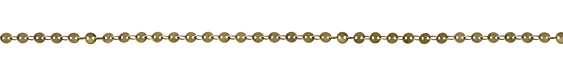 Antique Brass (Plated) Flat Coin Link Chain