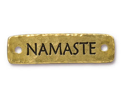 TierraCast Antique Gold (plated) Namaste Link 40.5x11.5mm