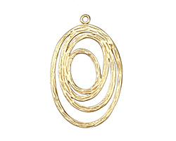 Satin Hamilton Gold (plated) Open Oval Link 36x23mm