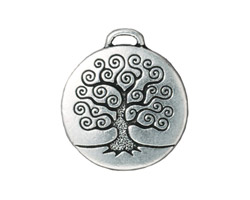 TierraCast Antique Silver (plated) Tree of Life Pendant 24x26mm