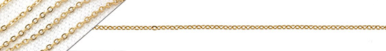 Gold (plated) Stainless Steel Small Cable Chain