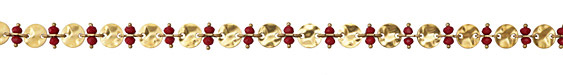 Zola Elements Ruby Crystal w/ Hammered Coin Link Brass Chain
