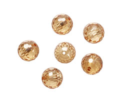 Champagne Faceted Round 10mm