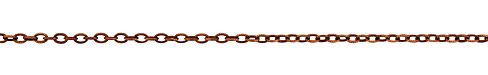 Antique Copper (plated) Etched Oval Cable Chain