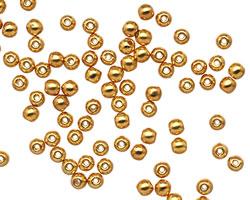 Czech Glass 24K Gold (plated) Round 3mm
