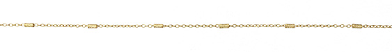 Zola Elements Satin Hamilton Gold (plated) Crosshatched Bar & Cable Chain