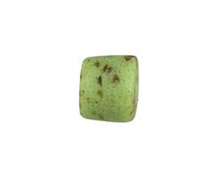African Powder Glass Speckled Key Lime Barrel 10-15x13-14mm