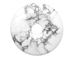 White Howite Donut 50mm