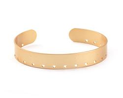 Satin Gold Finish Stitchable Cuff Bracelet 60x10mm