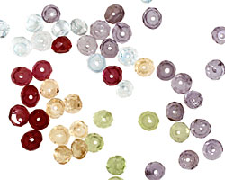 Multi Gemstone (Tanzanite, Aquamarine, Amethyst Citrine, Peridot) Faceted Rondelle 3mm