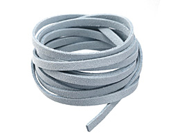 Icy Blue Microsuede Flat Cord 5mm