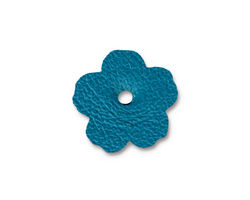 "TierraCast Turquoise Leather .75"" Flower 18mm"