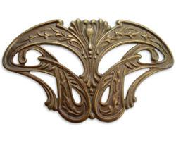 Vintaj Natural Brass Damsel Wings Pendant 88x53mm