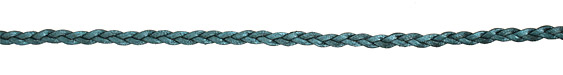 Truly Teal (metallic) Flat Braided Leather Cord 5mm