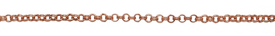 Rose Gold (plated) Every Other Etched Link Double Cable Chain