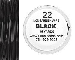 Parawire Black 22 gauge, 15 yards