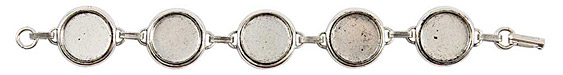 Nunn Design Antique Silver (plated) Large Circle Bezel Bracelet 18mm