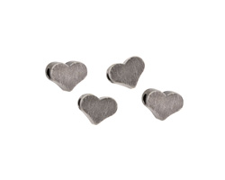 Antique Silver (plated) Heart Focal Bead 5mm