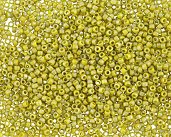 TOHO Semi-Glazed Rainbow Lemongrass Round 15/0 Seed Bead