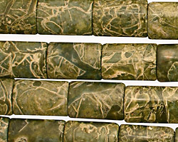 African Green Jasper Thin Pillow 14x10mm