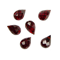 Garnet Faceted Teardrop 6x9mm