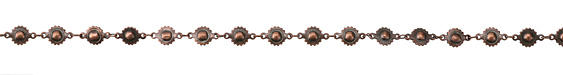 Antique Copper (plated) Ball & Cog Chain