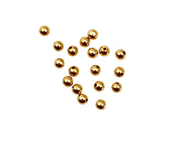 Memory Wire Gold (plated) Round Endcap 3mm