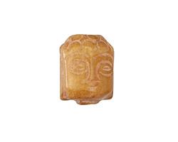Soochow Jade (light) Carved Buddha Head 13-14x19-20mm