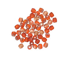 Czech Glass Matte Rustic Red w/ Copper Fire Polished Round 3mm