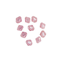 Pink Peony Faceted Bicone 4mm