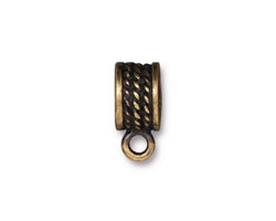 TierraCast Antique Brass (plated) Rope Bail 7x16mm
