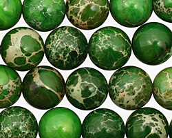 Green Impression Jasper Round 10mm