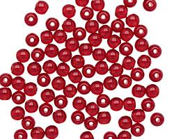 Czech Glass Ruby Round 4mm