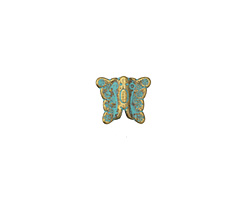 Zola Elements Patina Green Brass Butterfly 10x12mm