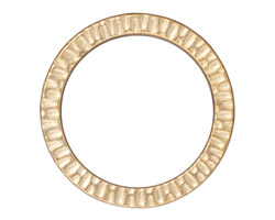 "TierraCast Gold (plated) 1 1/4"" Radiant Ring 32mm"