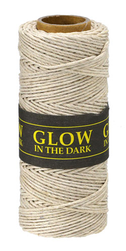 Natural Glow in the Dark Hemp Twine 20 lb, 205 ft