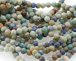 Chrysocolla Faceted Round 3mm