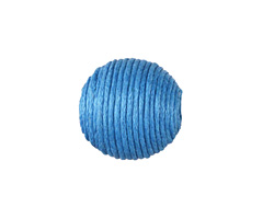 Sky Blue Thread Wrapped Bead 18mm