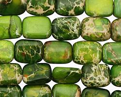 Green Impression Jasper Thin Pillow 10x8mm