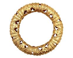 Brass Filigree Ring 51mm